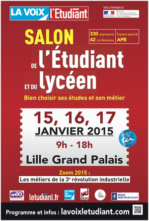 Salon de l 39 etudiant et du lyc en de lille lille grand for Salon de l erotisme a lille