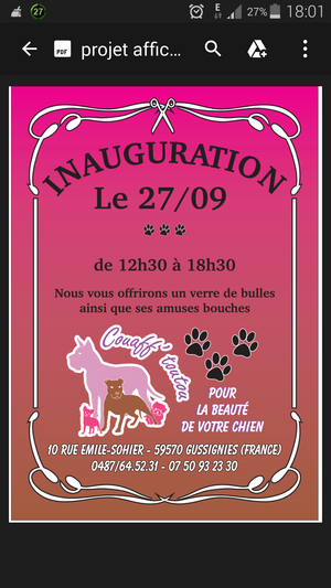 Inauguration du salon de toilettage