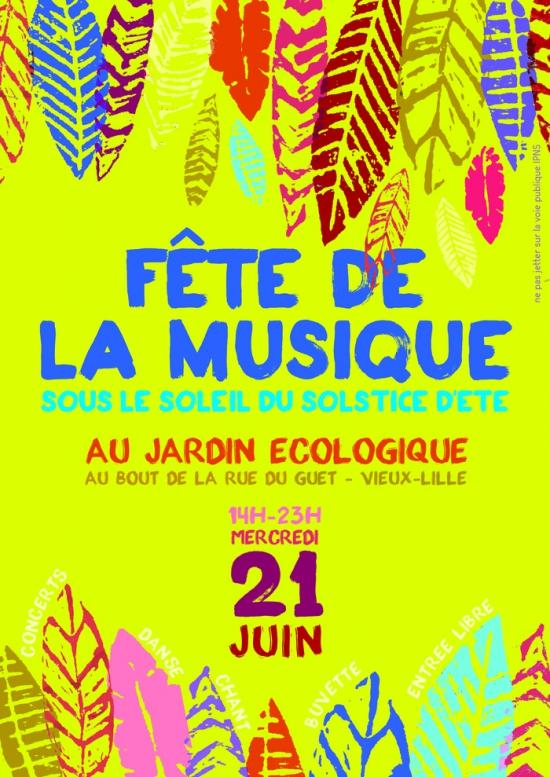 Le jardin en musique f te de la musique 2017 jardin ecologique de lille lille 59800 - Fete de la musique 2017 date ...
