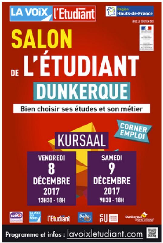 Salon de l 39 tudiant de dunkerque kursaal dunkerque for Salon de l habitat dunkerque