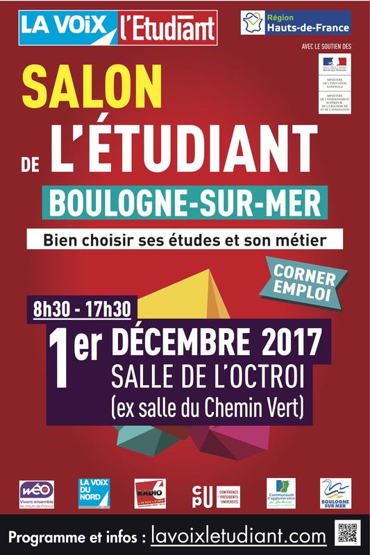 Pass salon de l 39 tudiant de boulogne salle de l 39 octroi for Salon de l apprentissage lille