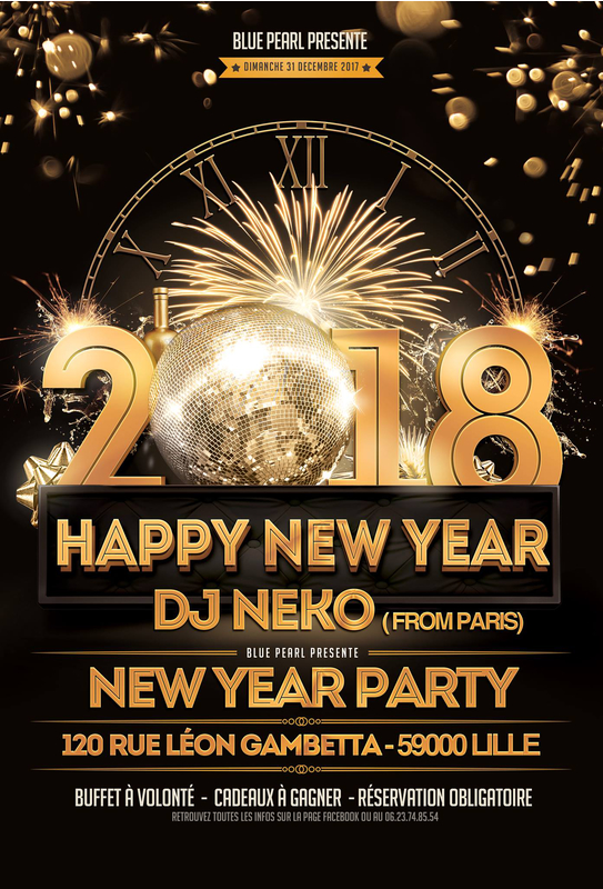Happy new year 2018 blue pearl lille 59800 sortir for Salon chicha lille