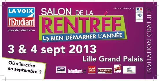 Salon de la rentr e lille lille grand palais lille for Salon des grandes ecoles lille
